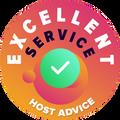 """我们亲自以匿名的方式花了些时间去调查每一家公司所提供的客户服务。 """"卓越奖章""""是我们授予给那些提供符合HostAdvice所设定的高标准客户服务托管公司的荣誉,除了表示证明这家公司所提供的服务是及时、高效、有见地之外,最重要的是具有热心的态度。"""