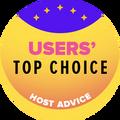 在首10大获得最高用户评分的网络托管服务类别名单内的获奖公司